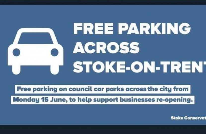 Stoke on Trent maintain free car parking